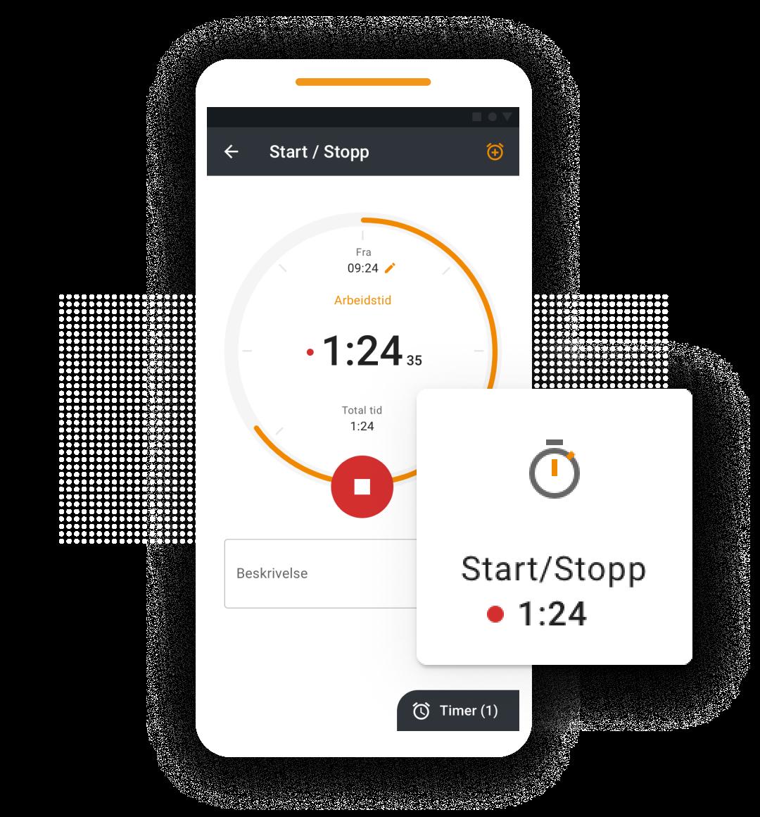 timeregistrering app