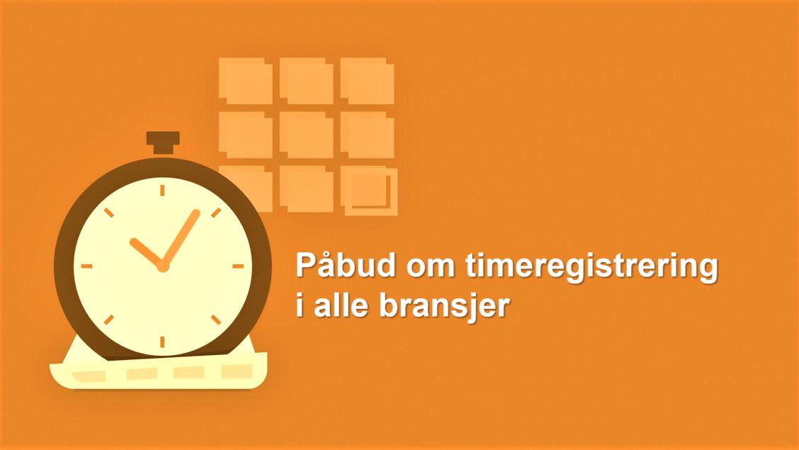 påbud om timeregistrering