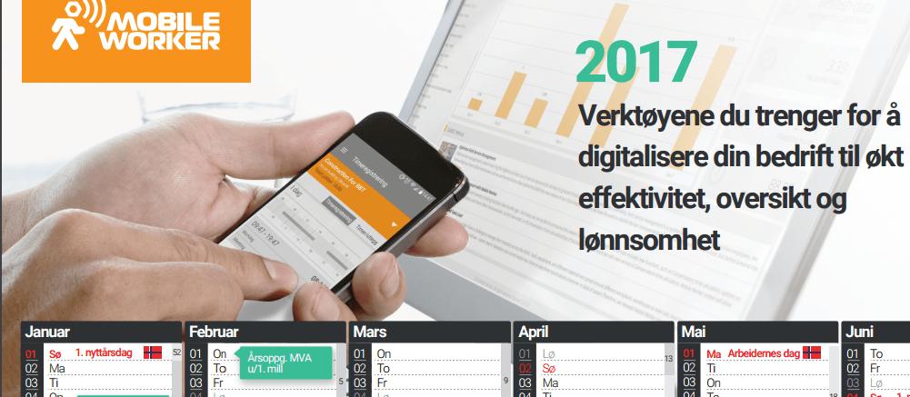 Kalender for 2017 – Her er digital versjonen