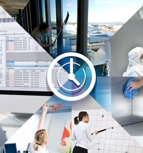 Mobile Worker Facility Management renhold timeføring