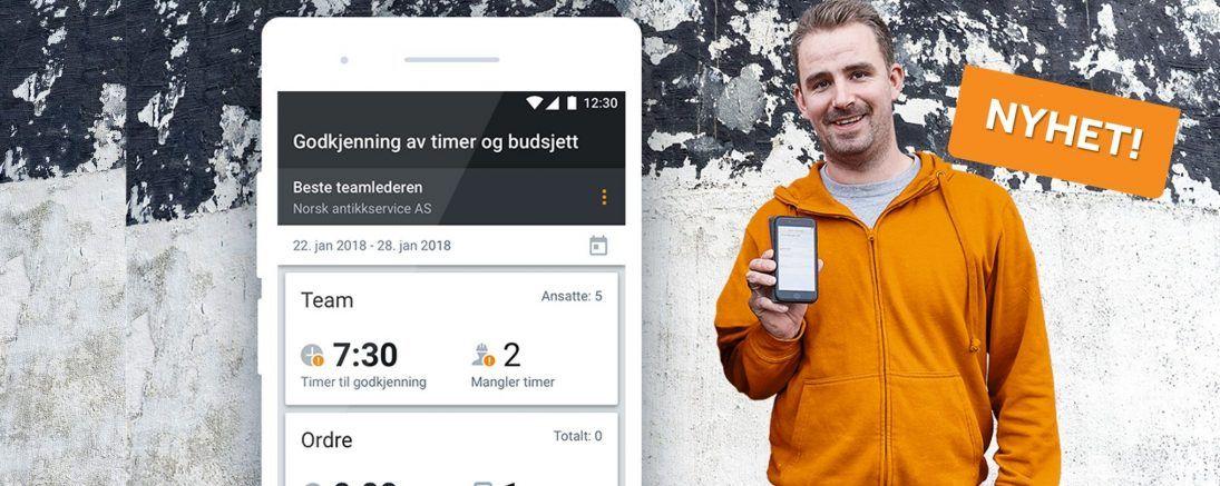 Spennende nyhet i Mobile Worker! Mobil godkjenning av timer og budsjett